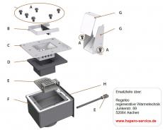 Pelletrutsche mit Abdeckung für HP02 15kW