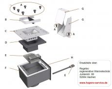 Brennereinsatz oben Hapero HP02 Hardwareversion C1A !!!