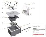 Hapero Brennergehäuse (F) für HP03/04 25/35kW ohne Innenteile
